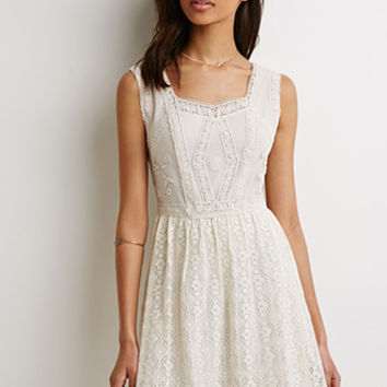 Embroidered Fit & Flare Dress