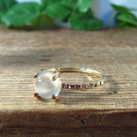 Claw Ring Gold Filled with Moonstone Gemstone