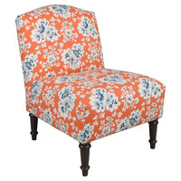 Clark Armless Chair, Orange/Blue, Accent & Occasional Chairs