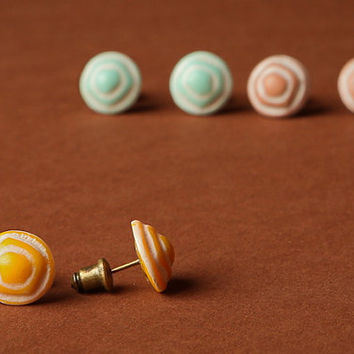 Etched Pastel Earrings 3 Pairs