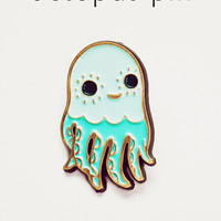 Octopus Pin Enamel Lapel Pin Squid Pin by boygirlparty