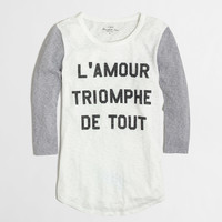 Factory triomphe baseball tee : long sleeve | J.Crew Factory