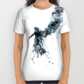 Final Fantasy Watercolor All Over Print Shirt by monnprint