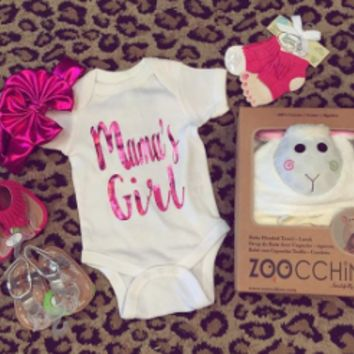 Pink Foil Mama's Girl Onesuit/tee