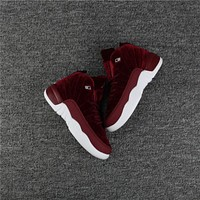Kids Air Jordan 12 Wine Red/white Sneaker Shoe Size Us 11c 3y | Best Deal Online