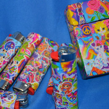 Lisa Frank Collection Flask Lighter and Box by PunkJunkNYC on Etsy