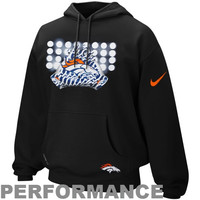 Nike Denver Broncos Glove Lockup Pullover Performance Hoodie - Black