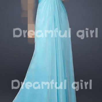 Cheap and high quality just for sale Aqua Heart Shaped Criss-Cross Bodice Long Charming Dress