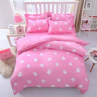 Pink king queen Single size - bed linen bedding sets bedclothes duvet cover bed sheet pillowcases