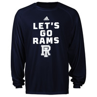 Rhode Island Rams adidas Sideline Swagger Long Sleeve Performance T-Shirt - Navy Blue