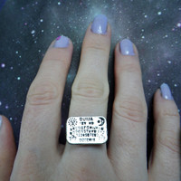 Ouija Board adjustable ring