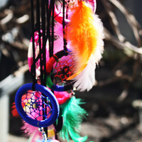 Pastel/Rainbow/Tribal Dream-catcher Necklaces