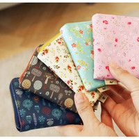 Paperian Blossom garden half zip around pocket wallet