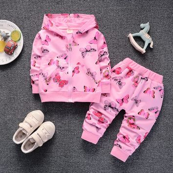BibiCola spring autumn girls clothing sets cartoon suits girls party clothes kids girls sport costume casual outerwear clothes