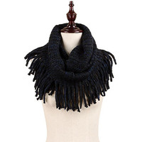 Montana West MW8426 Multi Color Knit Tassel Infinity