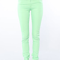 Cheap Monday The Tight Fit Skinny Jean in Kiwi Green : Karmaloop.com - Global Concrete Culture