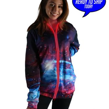 Deep Space Light Up Hoodie Red - Ready to ship!