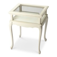 Burton Traditional Rectangular Curio Table White