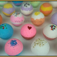 Bath Bombs LOT of 14 (2.5 oz.) Premium LUSH and Luxurious Super Moisturizing Bath Fizzy Pick Your Scent Gift Pack Sensitive and Dry skin
