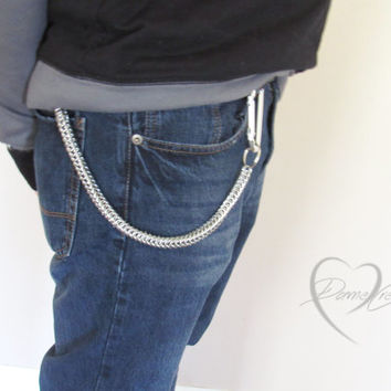 Aluminum Wallet Chain - Wallet Chain - Mens Gifts - Aluminum Chainmaille - Skater Wallet Chain - Biker Wallet Chain