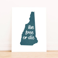Printable Art New Hampshire Art Typography Poster Dorm Decor Home Decor Office Decor Poster