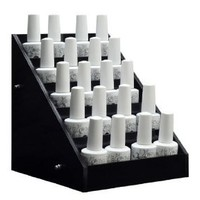 Black Acrylic Nail Polish Large Display Stand Rack Organizer Table Counter Top