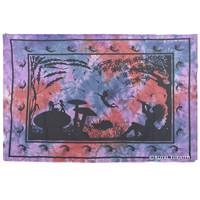 Twin Indian Angel in Wonderland (Fairyland) Hippie Tapestry Wall Hanging Decor Art