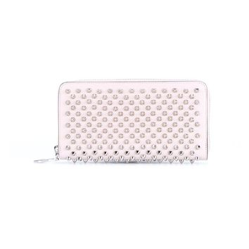 Spiked Panettone Calf Leather Wallet - CHRISTIAN LOUBOUTIN