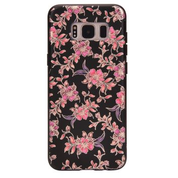 Midnight Floral Chrome Samsung Galaxy Case