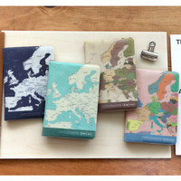 Indigo World map passport cover case