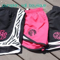 Monogram Athletic Shorts Preppy Running - Youth and Adult Sizes