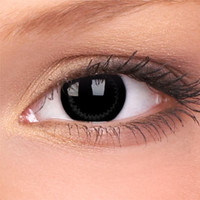 Black Contact Lenses | Natural Ring Big Eyes Contact Lenses (Pair)