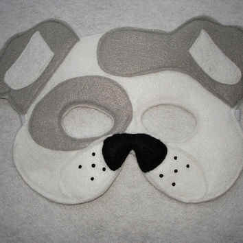 Children's WHITE DOG Animal Felt Mask, Brown Bear, Brown Bear, What Do You See?