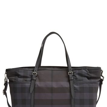 Infant Burberry 'Graceford' Diaper Bag - Black