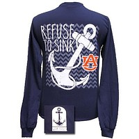 Auburn Tigers War Eagle Never Sink Anchor Bright Long Sleeves T Shirt
