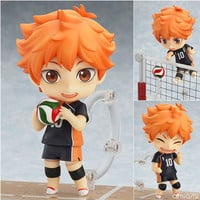 "Japanese Anime Figure Nendoroid Haikyuu Hinata Syouyou #461 PVC Action Figure Model Doll Toy 4"" 10cm"