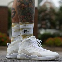 [Free Shipping]Nike Air Jordan 10 Retro OVO Drake 819955 100  Basketball Sneaker