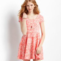 Aeropostale  Paisley Cap-Sleeve Dress