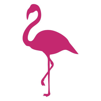 Flamingo Silhouette Die Cut Vinyl Decal Sticker