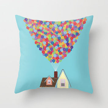 Up Throw Pillow by Lovemi | Society6