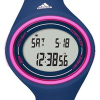 adidas Performance 'Adizero Basic Mid' Digital Watch, 38mm - Blue/ Pink