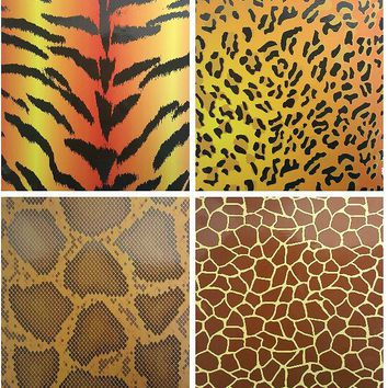 Two Pocket Folders Animal Skin Printed - CASE OF 50
