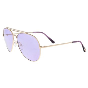 Tom Ford FT0497 8Y INDIANA Gold Aviator Sunglasses - 60-14-140