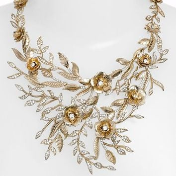 Marchesa 'Drama Flower Leaf' Necklace | Nordstrom