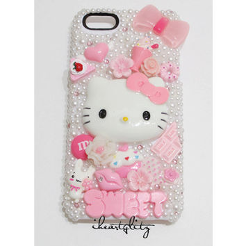 iPhone 5  Pink kawaii SWEET deco phone case by iheartglitz on Etsy