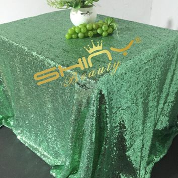 Shinybeauty Sparkly Mint Green Sequin Tablecloth-240x340cm For Wedding/Party Best Decoration
