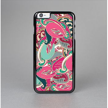 The Colorful Pink & Teal Seamless Paisley Skin-Sert for the Apple iPhone 6 Skin-Sert Case