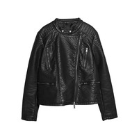 Buy Violeta by Mango Biker Jacket, Black | John Lewis