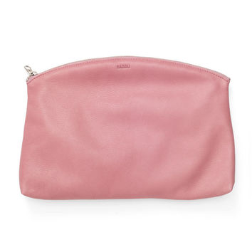 Small Leather Clutch: Blush