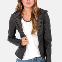Black Swan Rise Above Black Vegan Leather Jacket